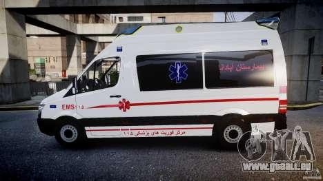 Mercedes-Benz Sprinter Iranian Ambulance [ELS] pour GTA 4 est une gauche