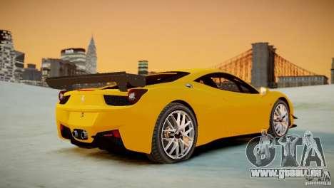 Ferrari 458 Challenge 2011 für GTA 4 Rückansicht