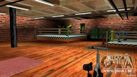 Salle de gym pour GTA San Andreas troisième écran