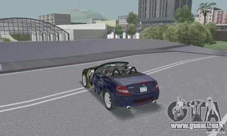 Mercedes-Benz SLK 350 für GTA San Andreas Unteransicht