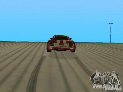 Audi R8 Le Mans NFS Carbon v2.0 pour GTA San Andreas sur la vue arrière gauche