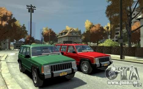 Jeep Cherokee 1984 für GTA 4 Rückansicht