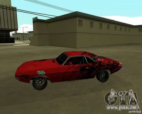 Dodge Challenger 1971 TeamGo pour GTA San Andreas laissé vue