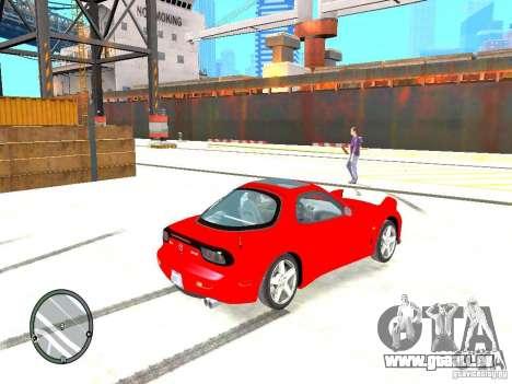 Mazda RX-7 Type RZ pour GTA 4 Vue arrière de la gauche