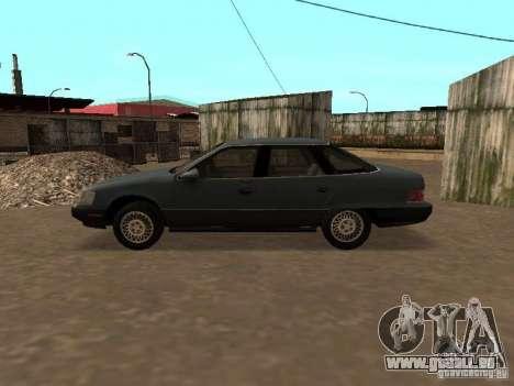 Mercury Sable GS 1989 pour GTA San Andreas sur la vue arrière gauche