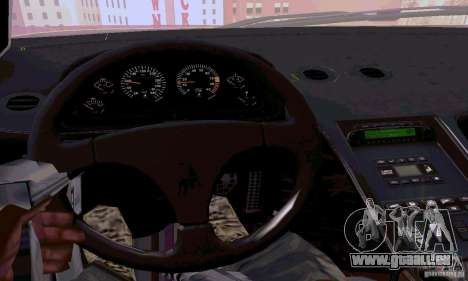 Lamborghini Diablo SV 1997 pour GTA San Andreas vue intérieure
