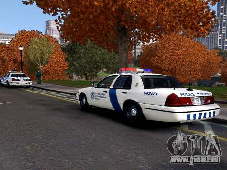 Ford Crown Victoria Homeland Security für GTA 4 hinten links Ansicht