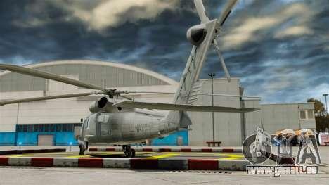 Der Hubschrauber der Sikorsky SH-60 Seahawk für GTA 4 hinten links Ansicht