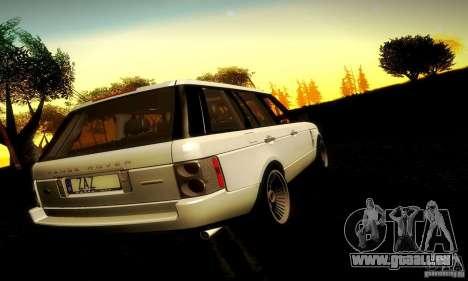Range Rover Supercharged pour GTA San Andreas vue intérieure