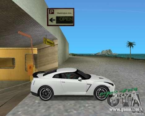 Nissan GT R35 Vspec pour GTA Vice City sur la vue arrière gauche