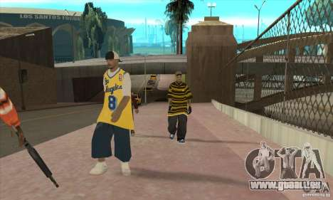 Ersetzen Sie alle Felle Los Santos Vagos Gang für GTA San Andreas dritten Screenshot