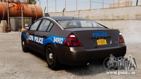 FBI Pinnacle ESPA pour GTA 4 Vue arrière de la gauche
