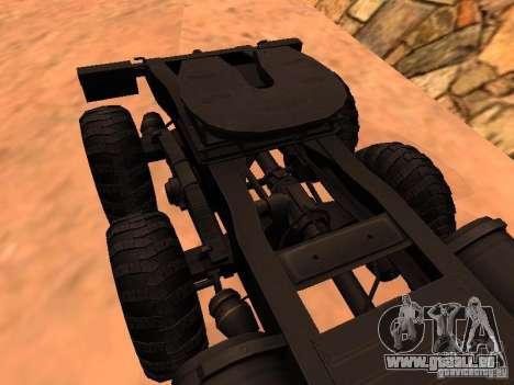 KrAZ 260V pour GTA San Andreas vue intérieure