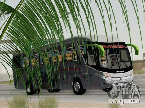 Marcopolo Paradiso 1200 G7 pour GTA San Andreas vue intérieure