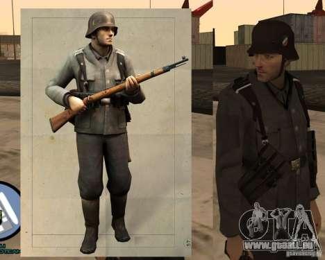 Unteroficer de la Wehrmacht pour GTA San Andreas