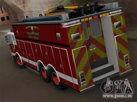 Pierce Walk-in SFFD Heavy Rescue für GTA San Andreas rechten Ansicht