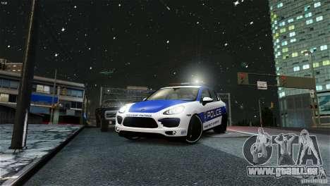 Porsche Cayenne Cop pour GTA 4 Vue arrière de la gauche