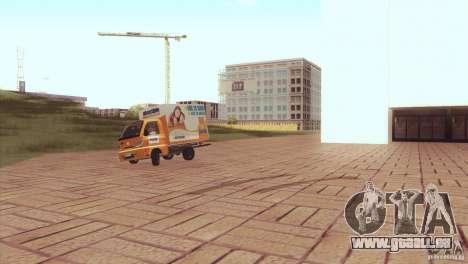 Hafei Camion de Gas für GTA San Andreas zurück linke Ansicht