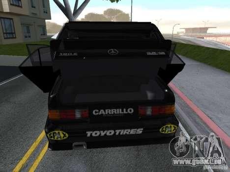 Mercedes-Benz 190E Racing Kit1 pour GTA San Andreas vue arrière