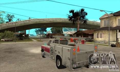 Chevrolet Silverado - utility für GTA San Andreas zurück linke Ansicht