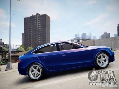 Audi A5 Sportback pour GTA 4 Vue arrière de la gauche