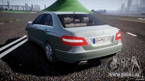 Mercedes-Benz E63 2010 AMG v.1.0 pour GTA 4 Vue arrière de la gauche