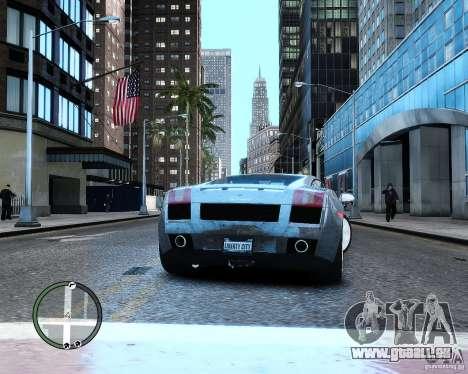 Lamborghini Gallardo 2005 pour GTA 4 Vue arrière de la gauche