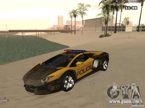 Lamborghini Aventador LP700-4 Police pour GTA San Andreas