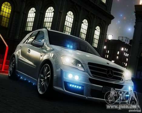 Mercedes-Benz ML Brabus 2009 pour GTA 4 est un droit