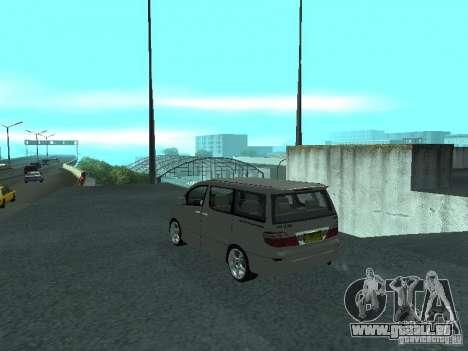 Toyota Alphard G Premium Taxi indonesia für GTA San Andreas linke Ansicht
