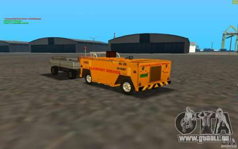 Airport Service Vehicle für GTA San Andreas linke Ansicht