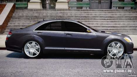 Mercedes-Benz S-Class W221 BRABUS SV12 für GTA 4 obere Ansicht