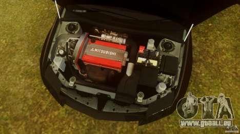 Mitsubishi Lancer Evo 2004 pour GTA 4 est une vue de l'intérieur