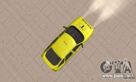 VAZ 21124 TAXI pour GTA San Andreas vue de droite