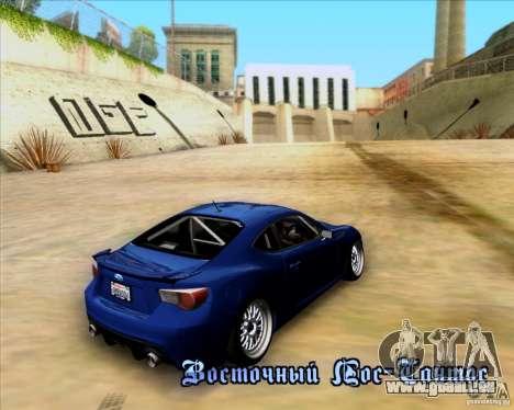 Subaru BRZ Stance pour GTA San Andreas vue intérieure