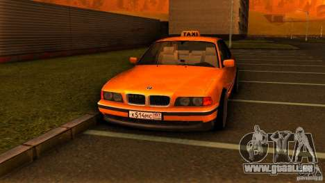 BMW 730i Taxi pour GTA San Andreas vue de droite