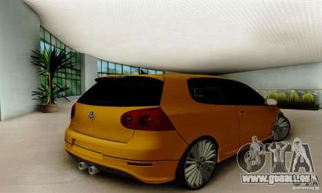 Volkswagen Golf R32 pour GTA San Andreas laissé vue