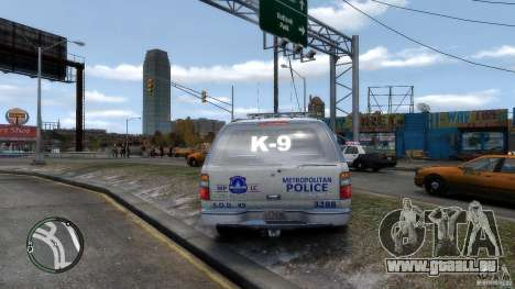 Chevrolet Suburban 2006 Police K9 UNIT pour GTA 4 est un droit