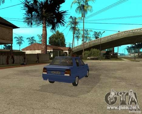 ZAZ 1103 Slavuta pour GTA San Andreas sur la vue arrière gauche