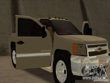 Chevrolet Silverado 3500 pour GTA San Andreas vue arrière