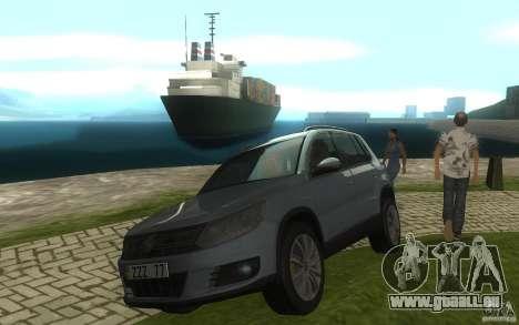 Volkswagen Tiguan 2012 für GTA San Andreas zurück linke Ansicht
