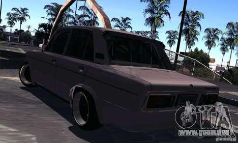 VAZ 2106 Turbo pour GTA San Andreas sur la vue arrière gauche