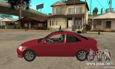 Honda Civic Tuning Tunable pour GTA San Andreas sur la vue arrière gauche