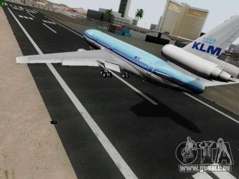 McDonell Douglas DC-10-30 KLM Royal Dutch für GTA San Andreas zurück linke Ansicht