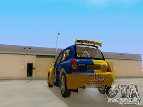 Renault Clio Super 1600 pour GTA San Andreas sur la vue arrière gauche