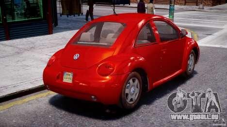 Volkswagen New Beetle 2003 pour GTA 4 est une vue de l'intérieur