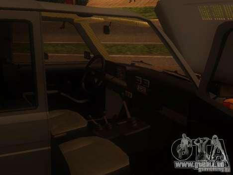Vaz 2131 NIVA pour GTA San Andreas sur la vue arrière gauche