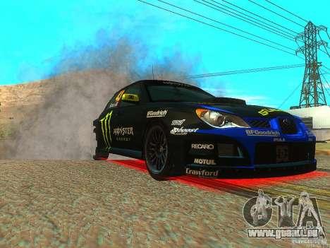 Subaru Impreza Gymkhana Practice pour GTA San Andreas vue arrière