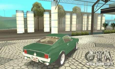 Ford Mustang Fastback 1967 für GTA San Andreas linke Ansicht