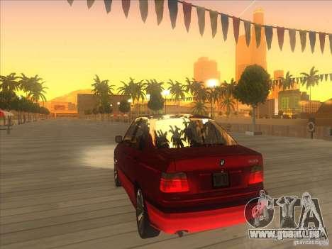 BMW E36 pour GTA San Andreas sur la vue arrière gauche